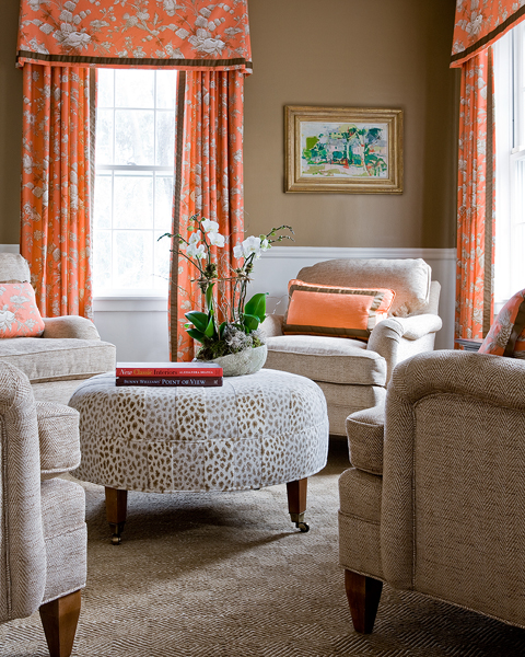 15 Lively Orange Living Room Design Ideas: 15 Circular Conversation Seating Areas: 4 Chairs Around A