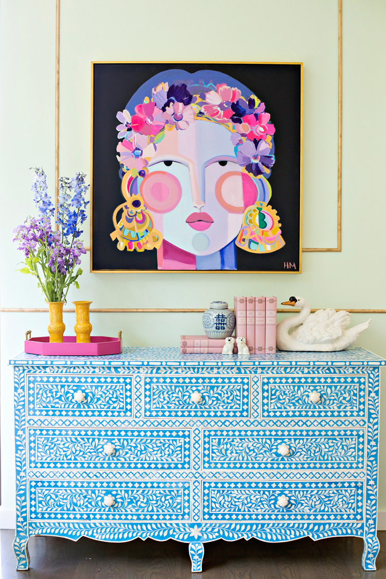 leen and Company, Stark Carpet, Hayley Mitchell, Home Goods Dresser, Bone Inlay